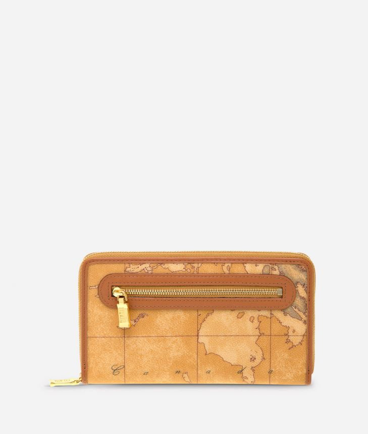 Geo Classic Large wallet with zip pocket,front