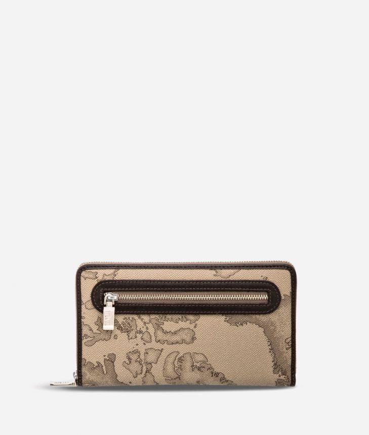 Geo Tortora Large wallet with zip pocket,front