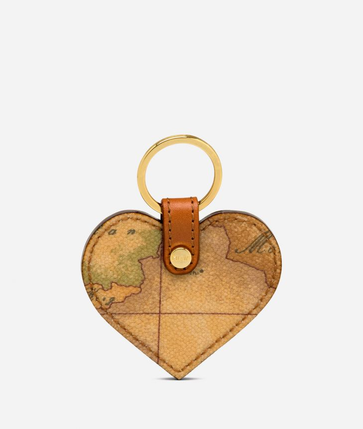 Geo Classic Heart shaped key ring,front