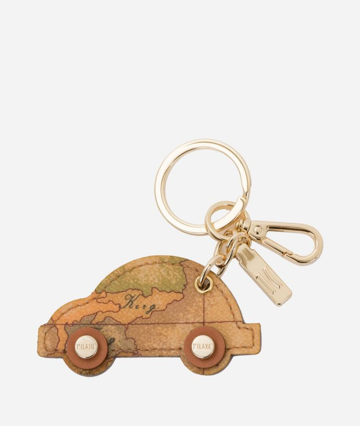 Geo Classic Car-shaped keychain,front