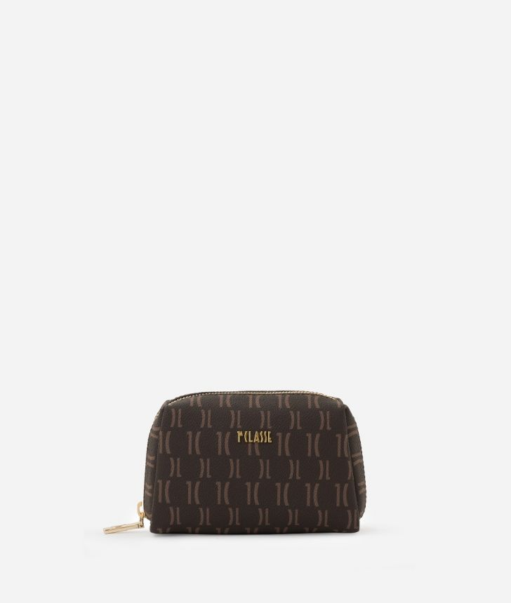 Monogram Small beauty case Brown,front