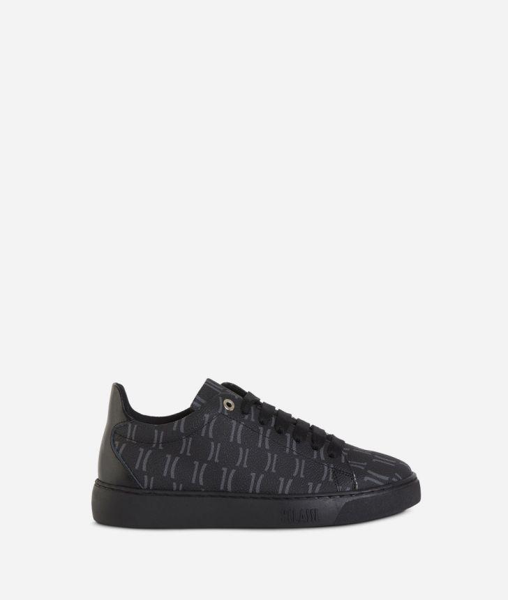 Monogram Sneakers Black,front