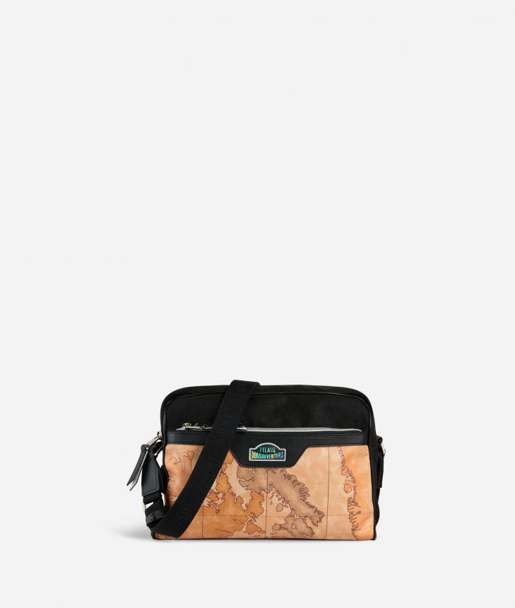 Crossbody Bag in Geo Classic print fabric,front