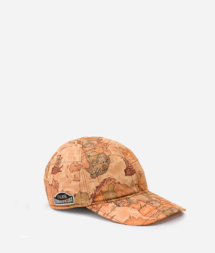 Baseball cap in Geo Classic print fabric,front