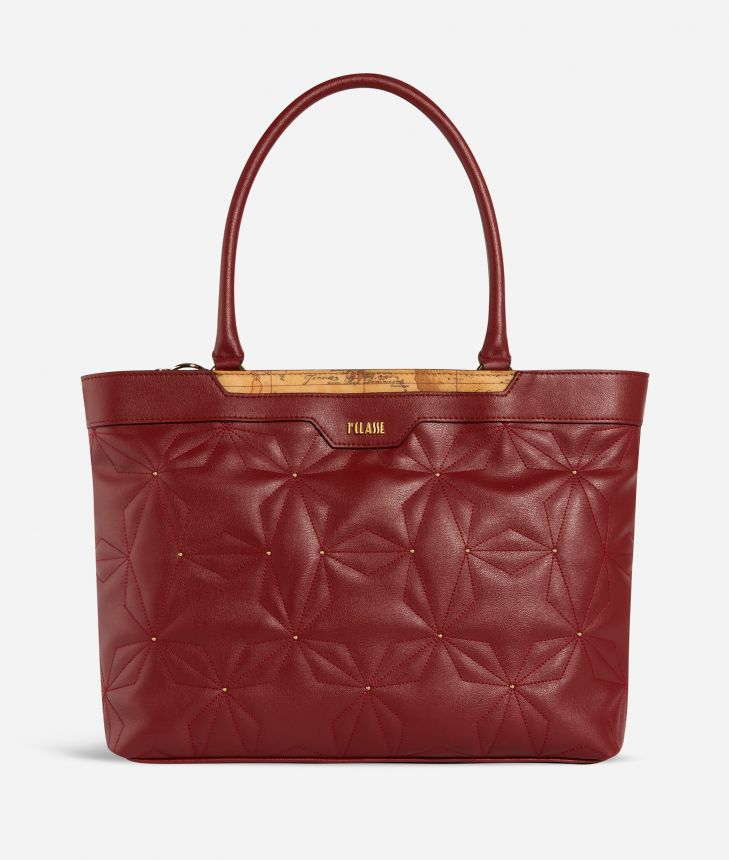 Shiny Star Borsa Shopping Rossa,front