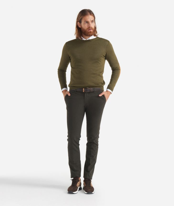 1-pince slim fit pants super slim fit Green,front