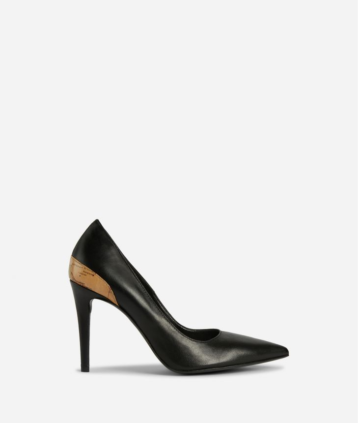 Pumps in smooth leather Black,front