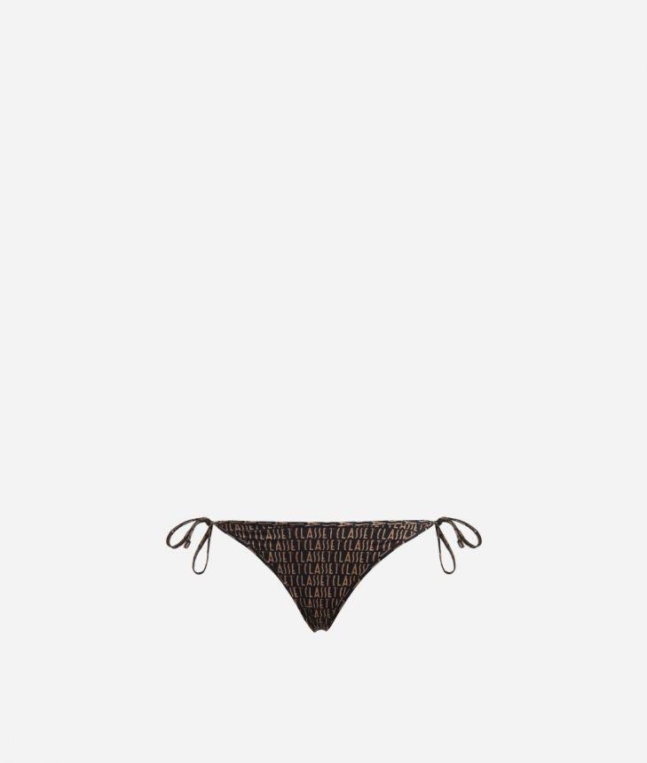 Bikini bottom with Logomania print Black,front