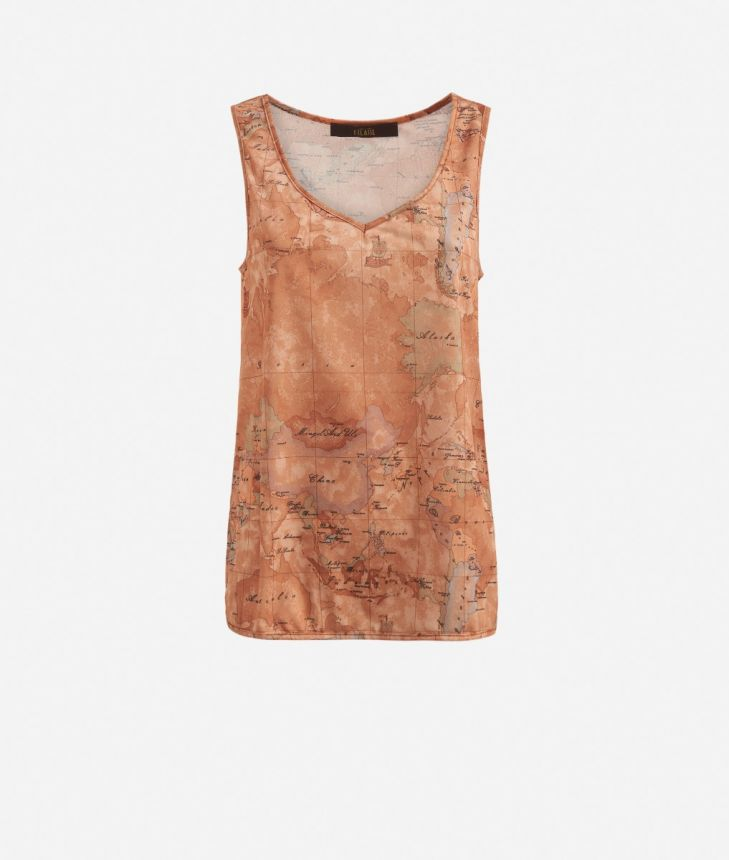 Tank top with Geo Classic print,front