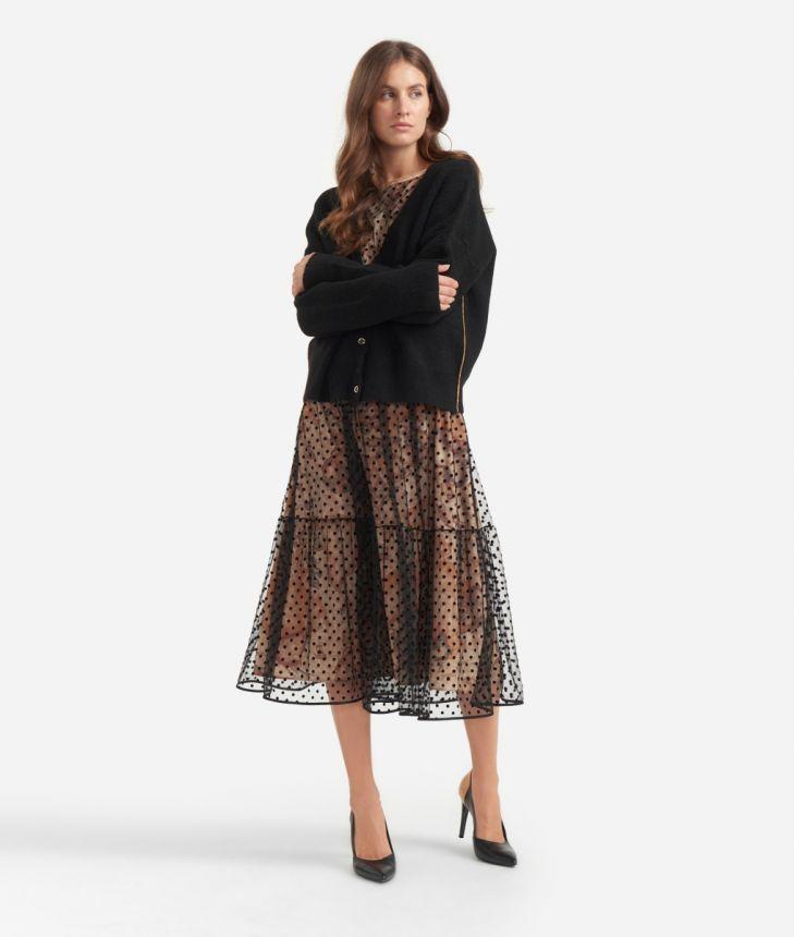 Cardigan in wool blend Black,front