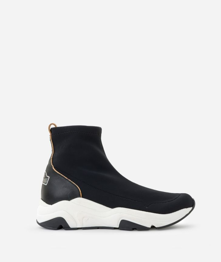 Running boots in lycra Black,front