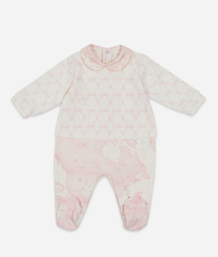 Completo due pezzi  stampa Geo Pink,front