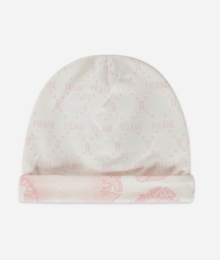 Cappellino in cotone stampa Geo Sky,front