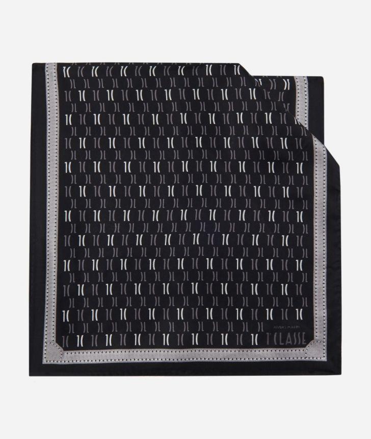 Scarf with 1C Monogram print 45 x 180 Black,front