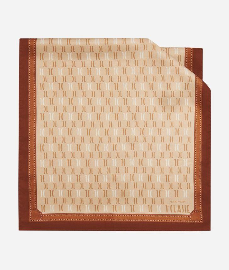 Scarf with 1C Monogram print 45 x 180 White,front