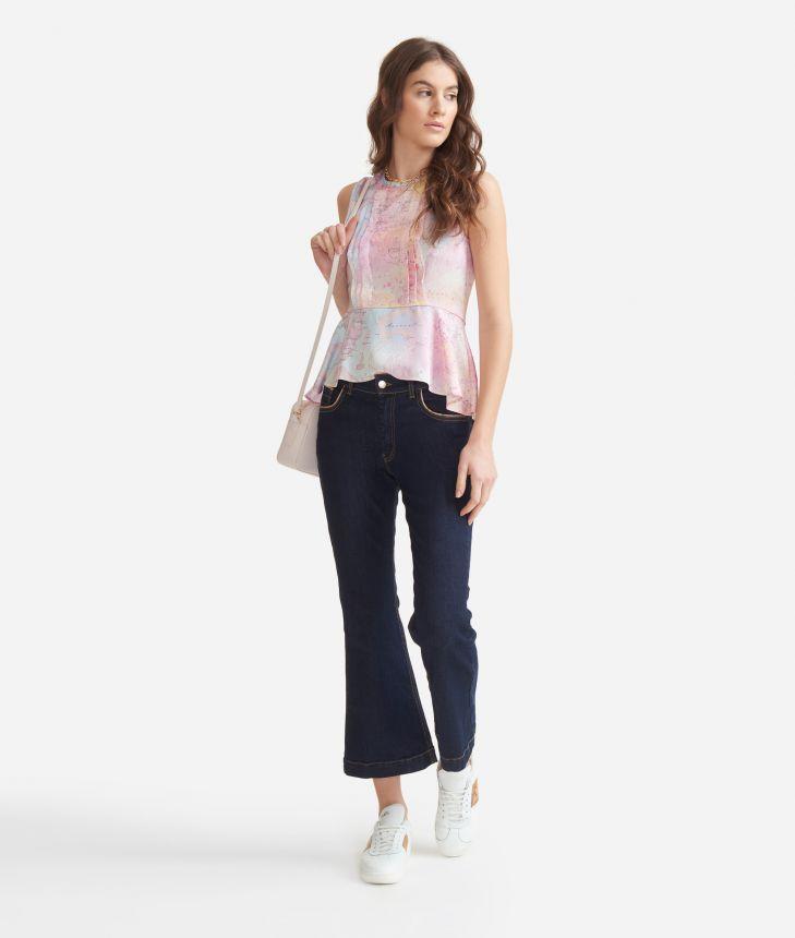 Slim fit 5-pockets denim in denim stretch Blue,front