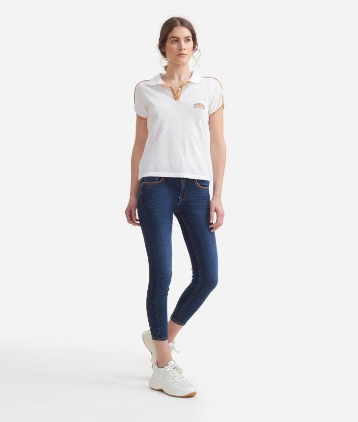 5-pockets pants in denim fleece Blue,front
