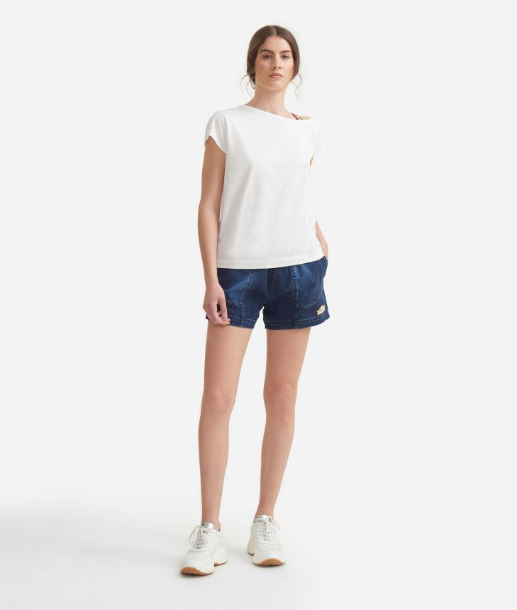 T-shirt in jersey cotton White,front
