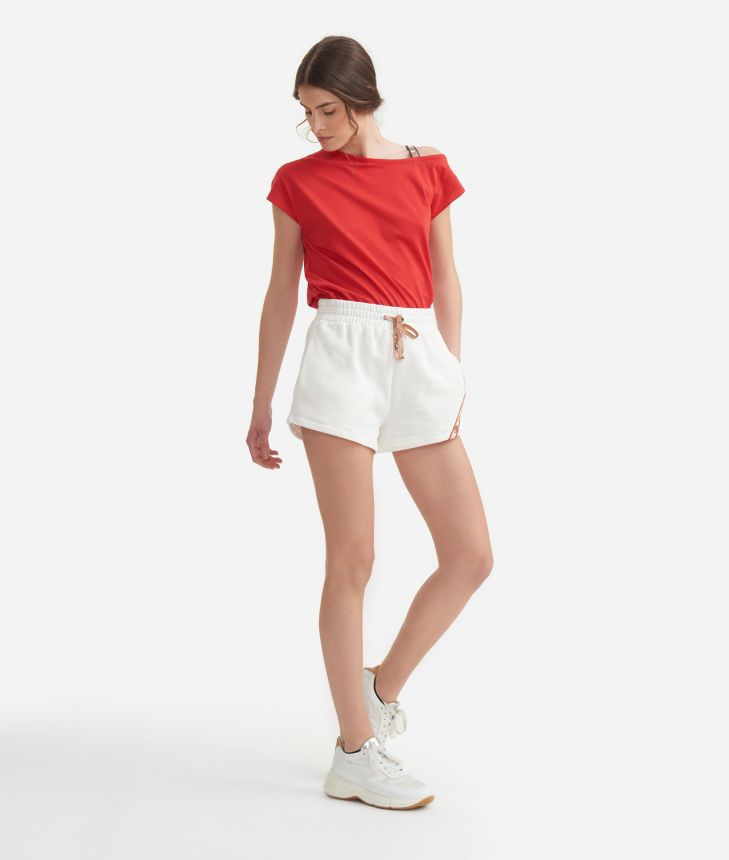 T-shirt in jersey cotton Red,front