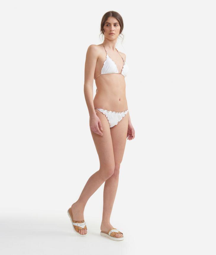 Bikini with Geo Classic profiles White,front