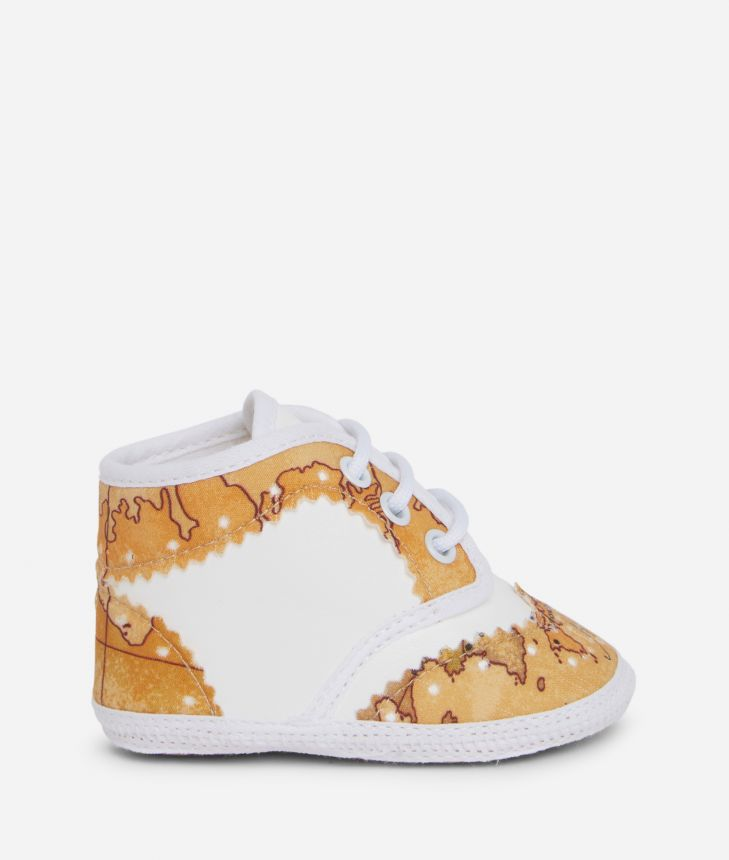 Newborn lace shoes in Geo Classic,front