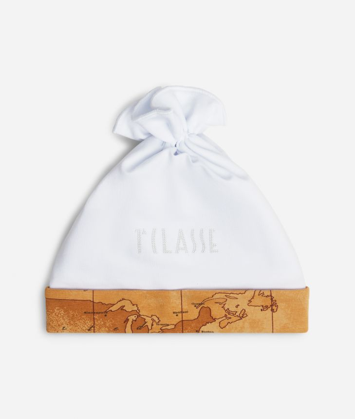 Baby hat with bow,front