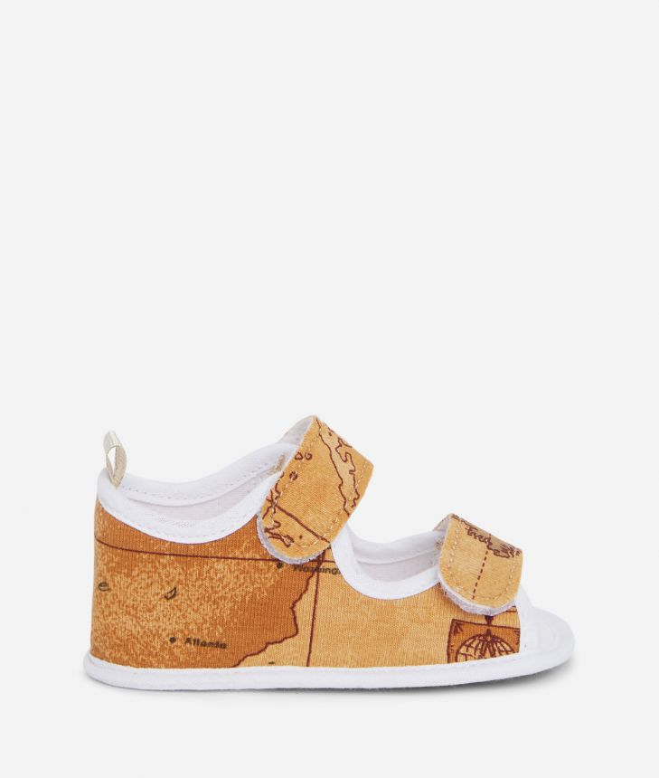 Baby sandals in Geo Classic,front
