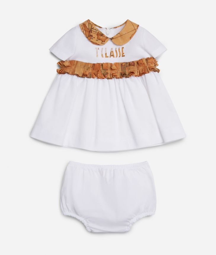 Baby girl dress Geo Classic details ,front