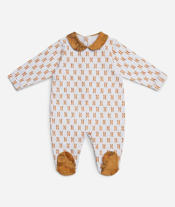 Baby playsuit with 1C all-over print ,front