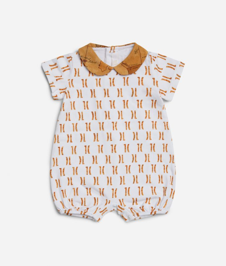Baby romper with 1C all-over print ,front