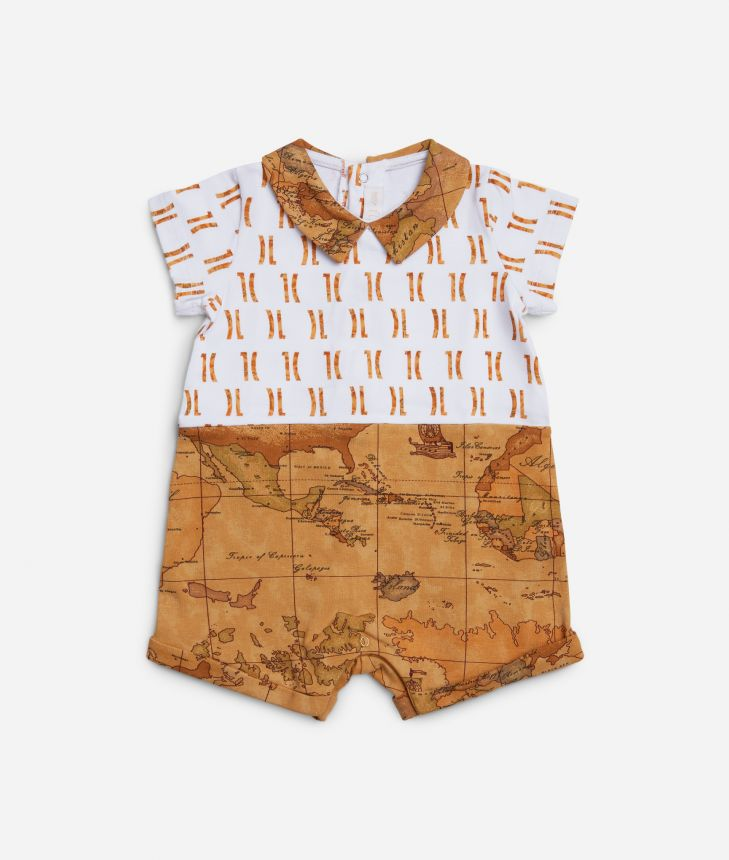 Baby romper with Geo Classic details ,front