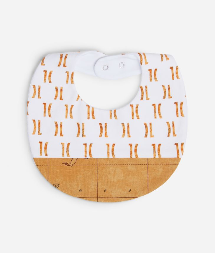 Bib with logo 1C all-over print,front