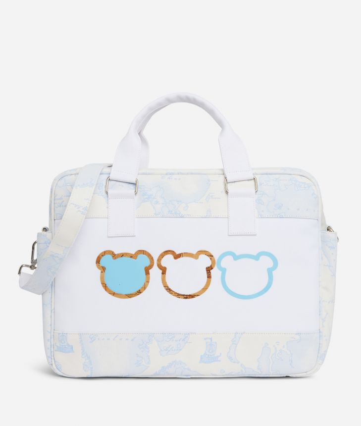 Changing bag in Geo Sky and teddy bears,front