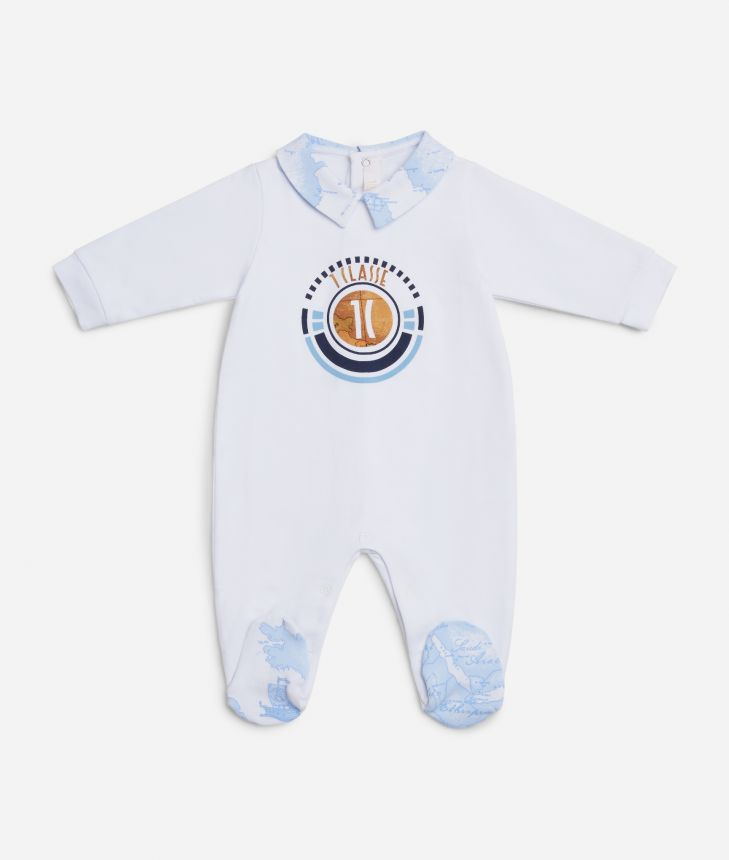 Baby playsuit with 1C logo ,front
