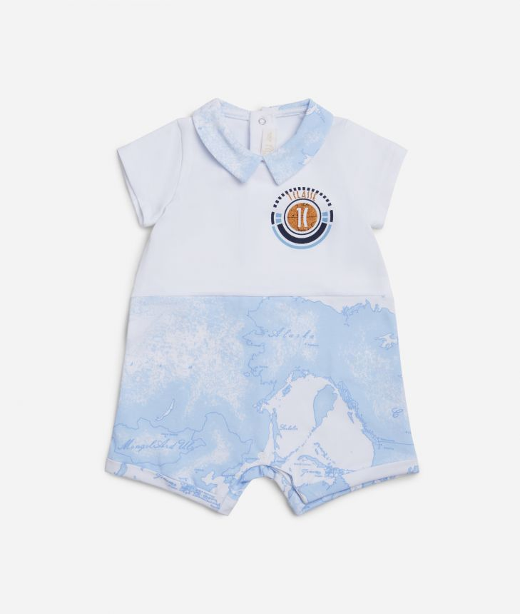 Baby romper with 1C logo,front