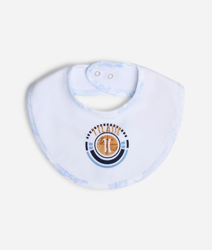 Baby bib with 1C logo ,front