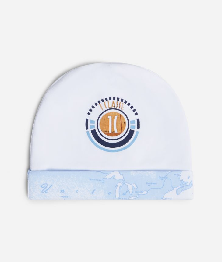 Baby hat with 1C logo ,front