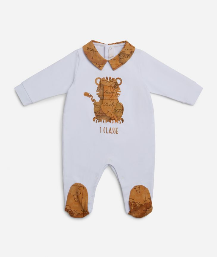 Baby playsuit with tiger,front