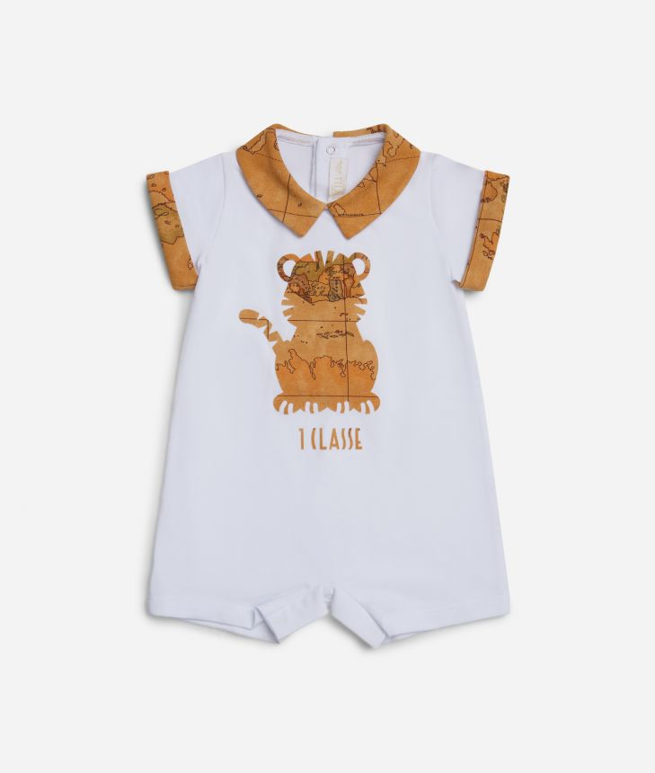 Baby romper with tiger ,front