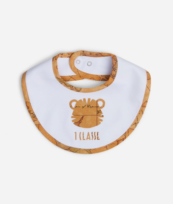 Baby bib with tiger,front