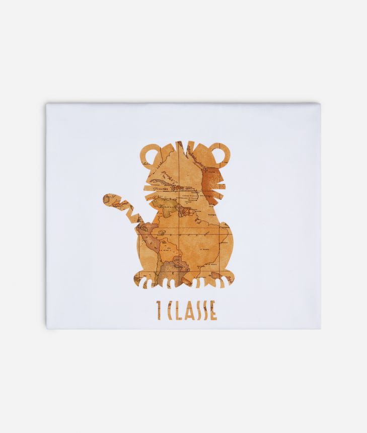 Baby blanket with tiger,front