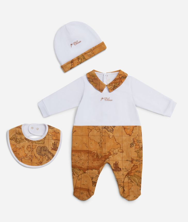 Baby set Geo Classic details,front