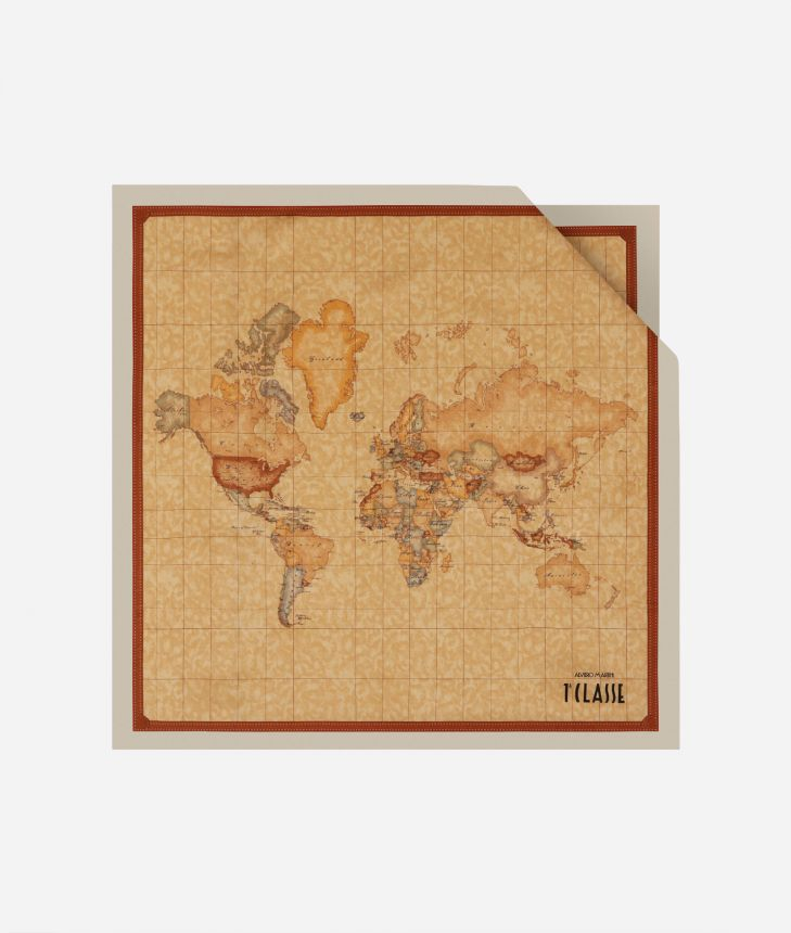 Foulard with Geo Classic print 50 x 50 White,front