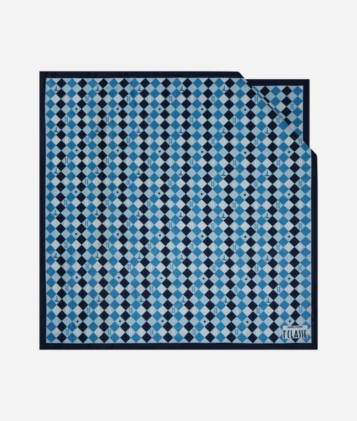 Foulard 1C Ocean 70 x 70 Blue,front