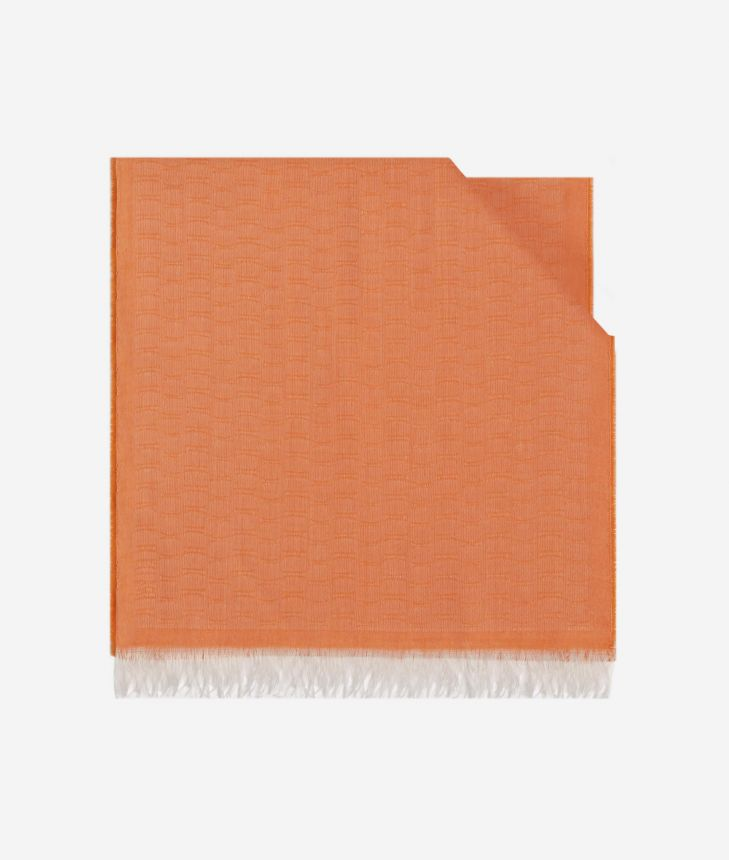 Scarf with 1C print 40 x 190 Orange,front