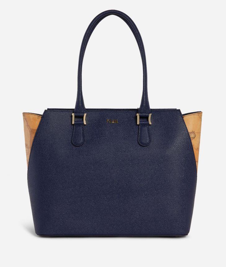 Dream Way Borsa Shopping Blu,front