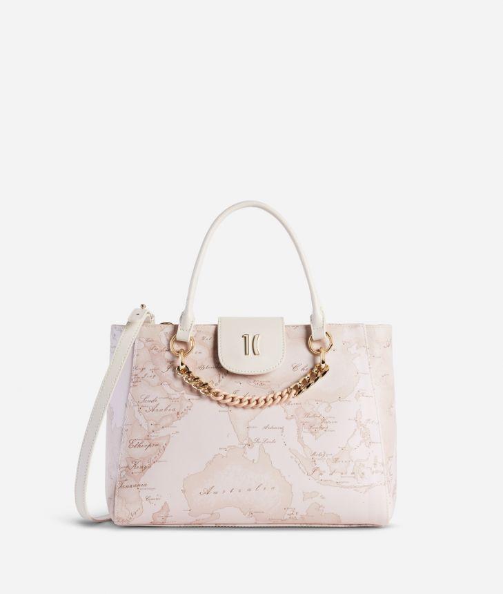 Geo Nude Handbag Pink,front