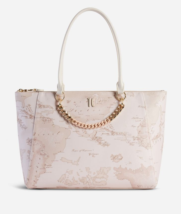 Geo Nude Shopping Bag Pink,front