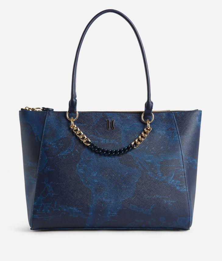 Geo Midnight Borsa shopping Blu,front