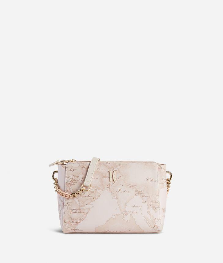 Geo Nude Crossbody Bag Pink,front